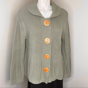 NorthStyle Nouvea button cardigan knit XL SAGE